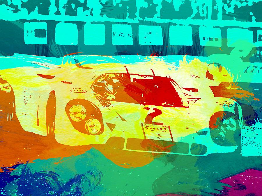 Porsche 917 Painting - Porsche 917 Watercolor by Naxart Studio