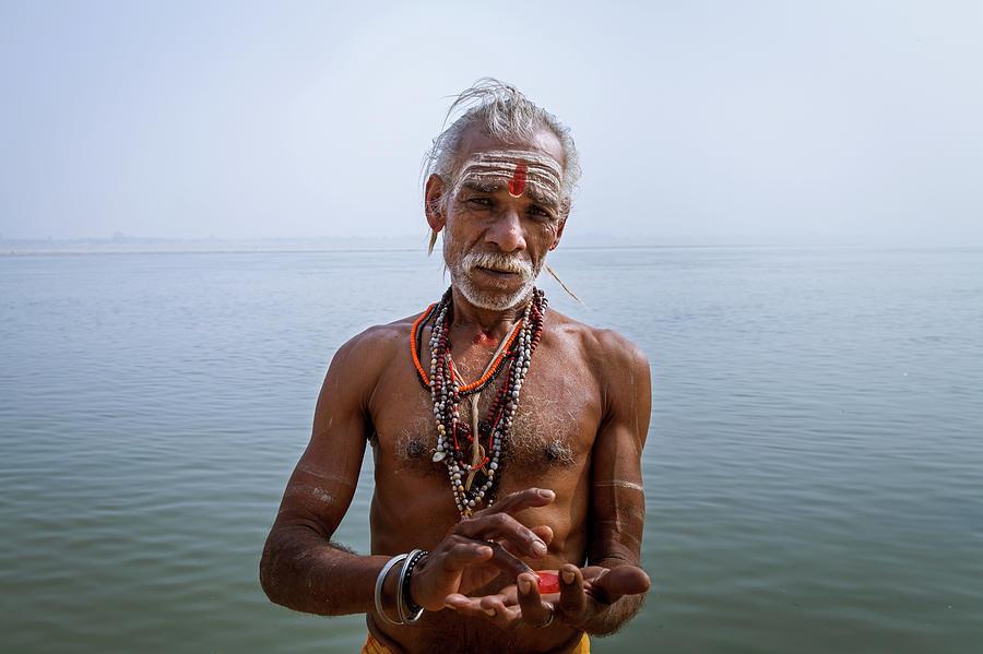 Portrait of a Sadhu, Varanasi, India by Mahesh Balasubramanian
