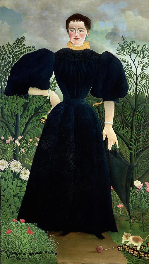 Portrait Painting - Portrait Of A Woman by Henri Rousseau