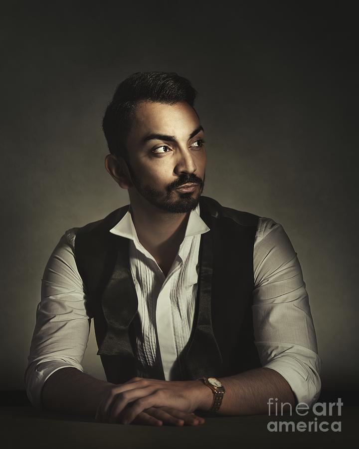 Portrait Photograph - Portrait Of A Young Man by Amanda Elwell