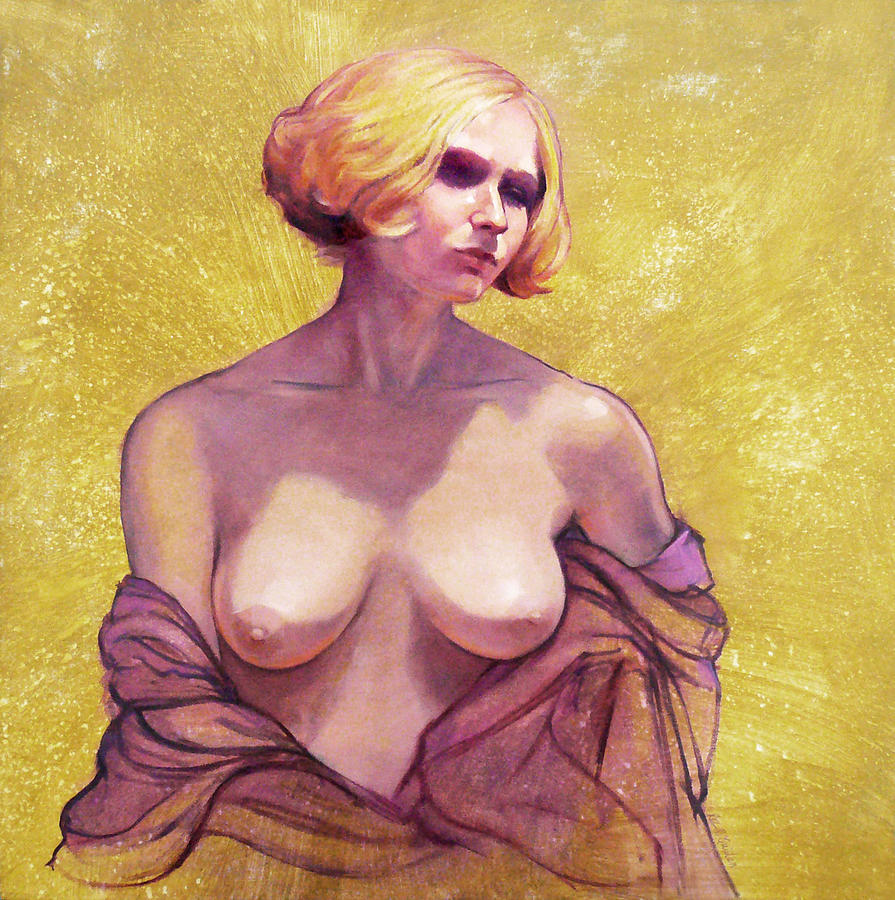 Female Nudes Painting - Portrait Of Amy by Roz McQuillan