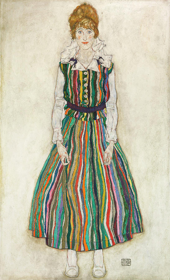 Edith Painting - Portrait Of Edith, The Artists Wife by Egon Schiele