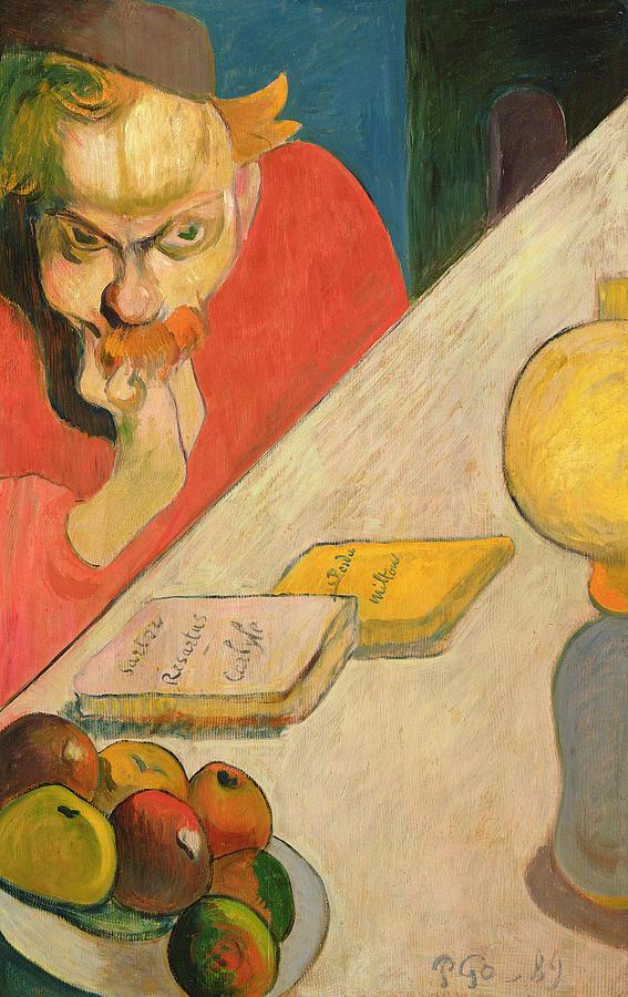 Gauguin Painting - Portrait Of Jacob Meyer De Haan by Paul Gauguin