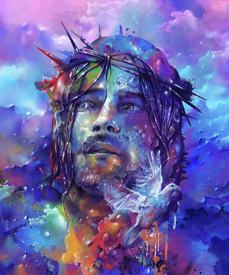 Portrait Of Jesus Digital Art
