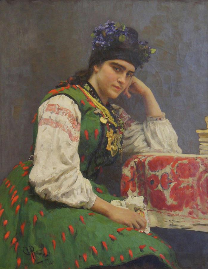 Ilya Repin Painting - Portrait Of Sophia Dragomirova by Ilya Repin