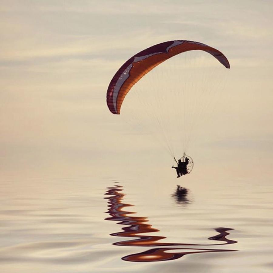 Paramotor Photograph - Powered Paraglider by John Edwards