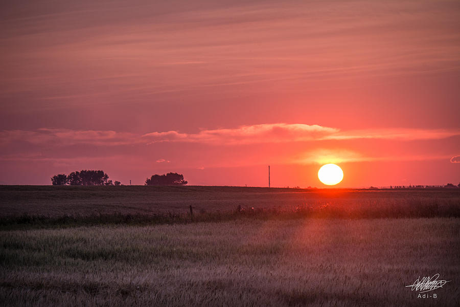 Prairie Sunset Photograph by Adnan Bhatti