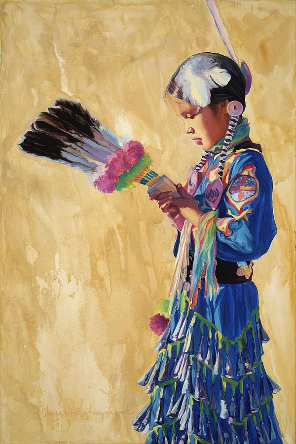 Indian Jewelry Painting - Prayer Walk by Christine Lytwynczuk
