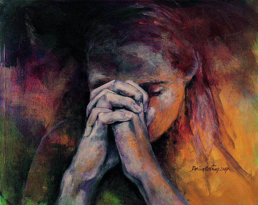 praying hands paintings | fine art america