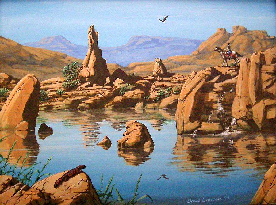 Horse Painting - Praying Rock by David  Larcom