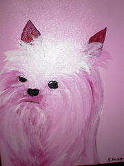 Pet Portraits Painting - Precious In Pink by Suzanne Filotei
