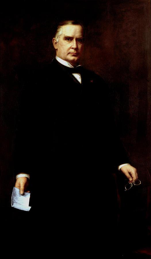 William Mckinley Painting - President William Mckinley  by War Is Hell Store