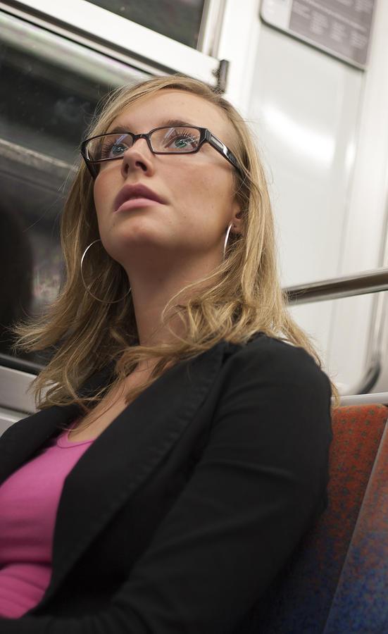Pretty Girl On Paris Metro Photograph