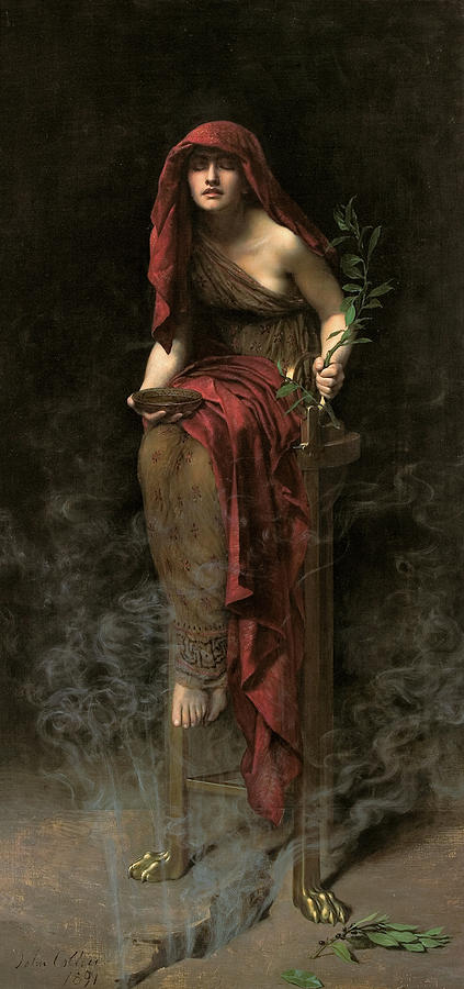 John Collier Painting - Priestess Of Delphi  by John Collier