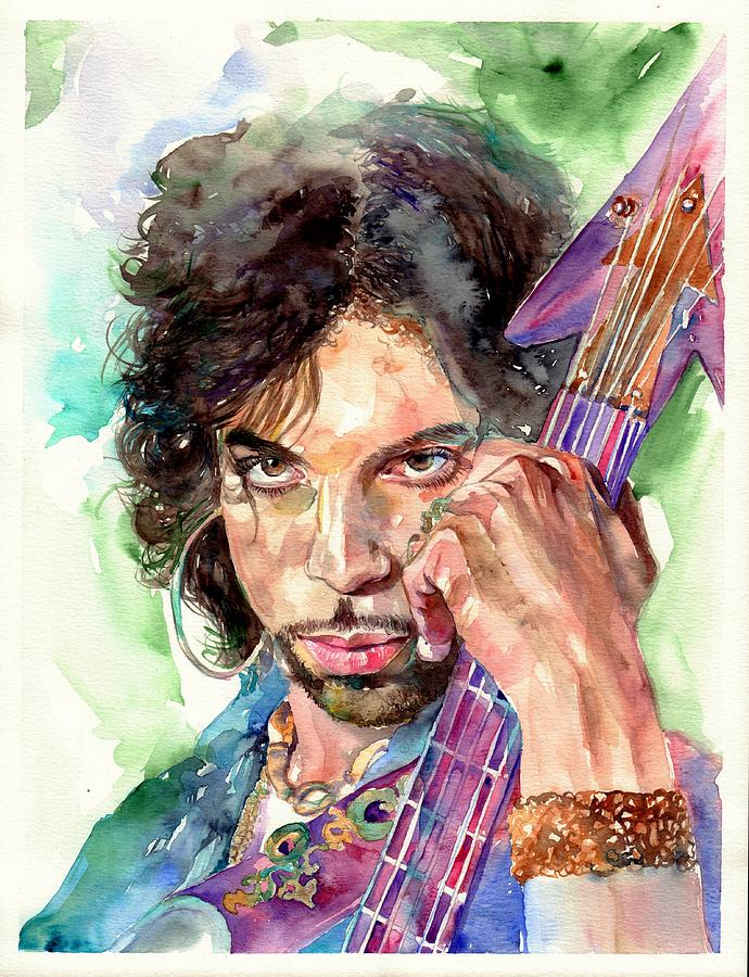 Prince Painting - Prince Rogers Nelson Portrait by Suzanns Art