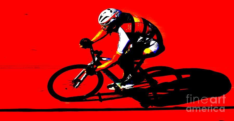 Pursuit Photograph - Pro Cycling by Douglas Sacha