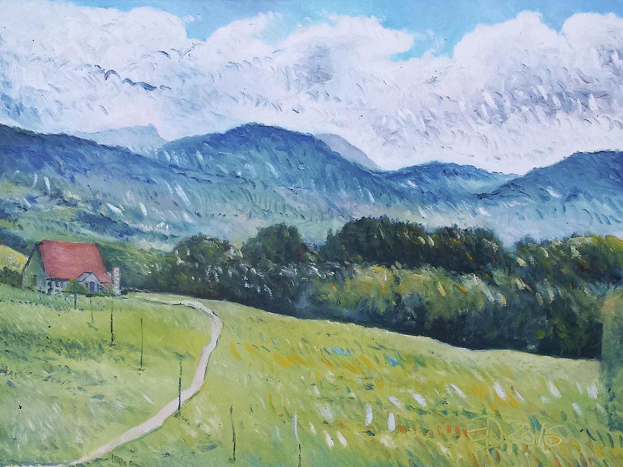 Impressionism Painting - Progens Switzerland 2016 by Enver Larney