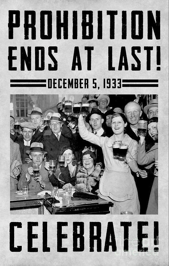 Beer Photograph - Prohibition Ends Celebrate by Jon Neidert