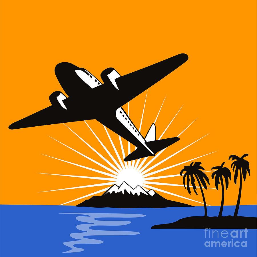 Propeller Airplane Retro Digital Art by Aloysius Patrimonio 90c99d3fb