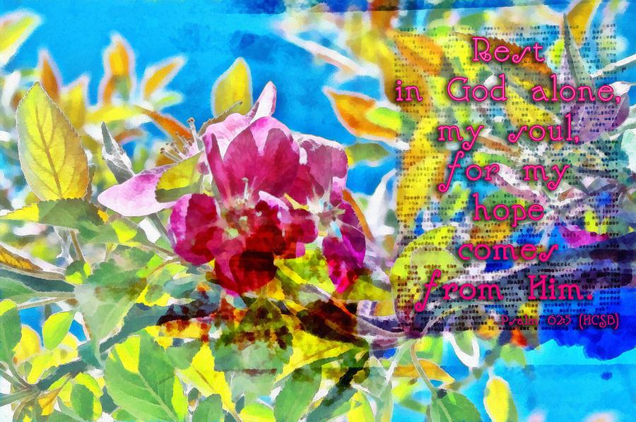 Psalm 62 5 Digital Art