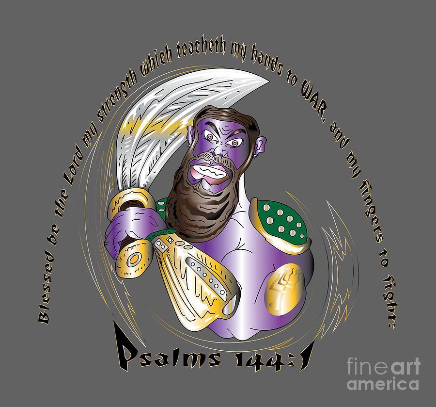 Warrior Digital Art - Psalms 144 Warrior by Robert Watson