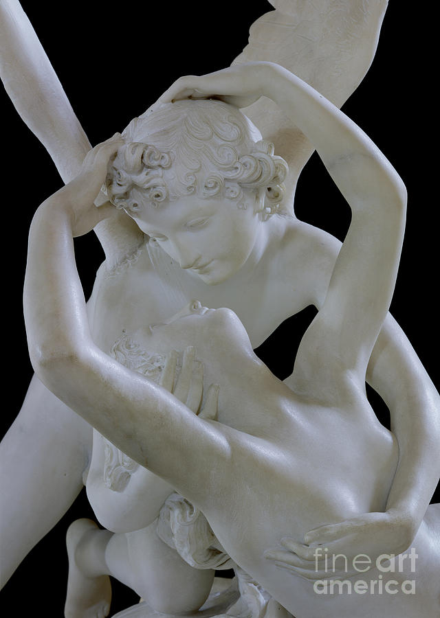 Psyche Photograph - Psyche Revived By The Kiss Of Cupid by Antonio Canova