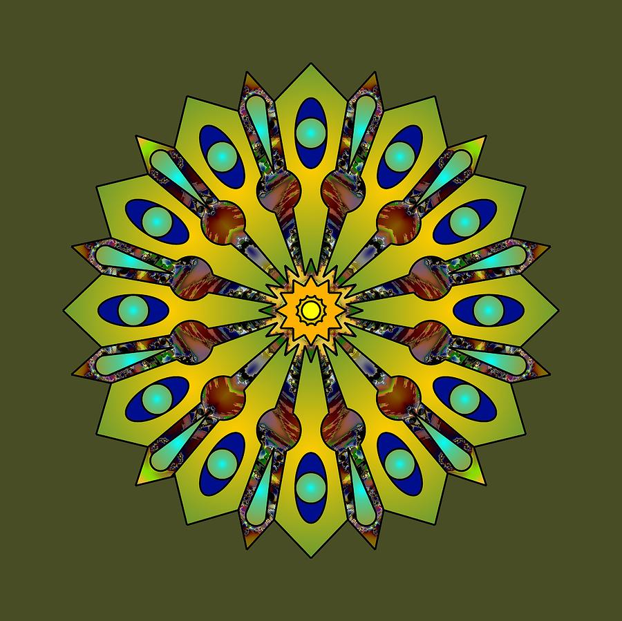 Psychedelic Mandala 004 A by Larry Capra