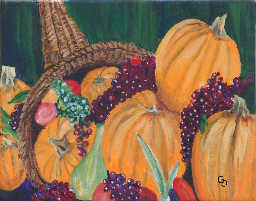 Pumpkins Painting - Pumpkin Plenty by Gail Daley
