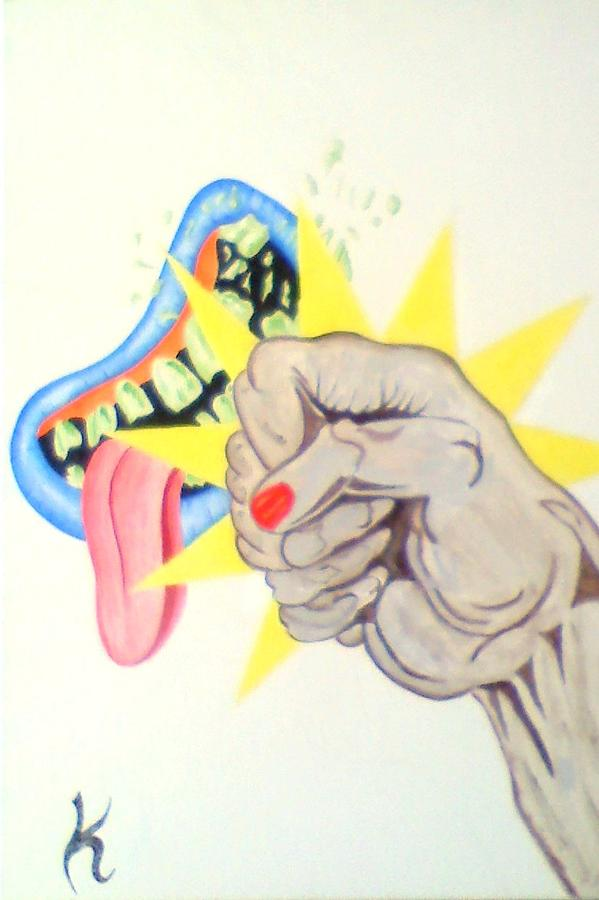 Punch Face Painting by Roger Golden