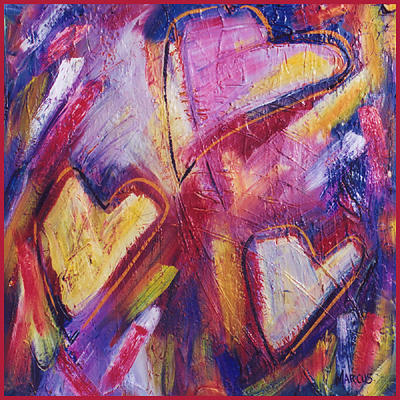 Pure Heart 1 Painting by Leslie Marcus