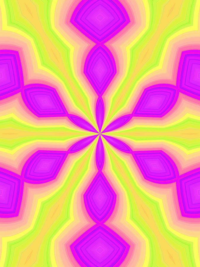 Purple and Green by Elizabeth Lock