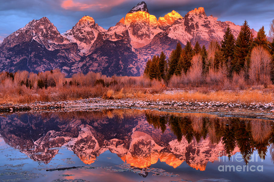 Tetons Photograph - Purple Mountain Majesty by Adam Jewell