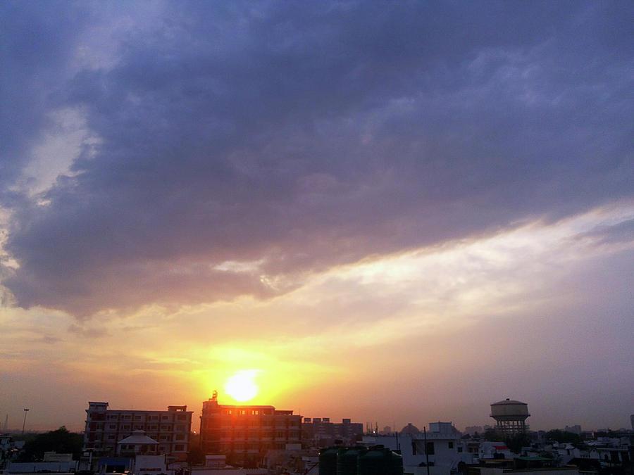 City Photograph - Purple Sunset by Atullya N Srivastava