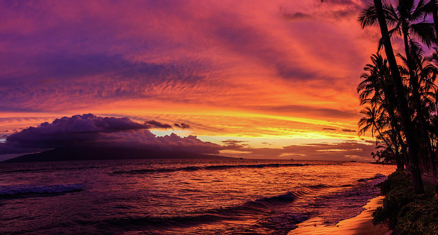 Maui Photograph - Purple Sunset by Scott Moore