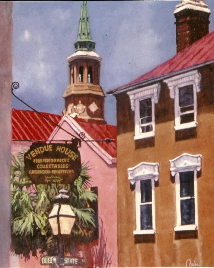 Charleston Painting - Queen And State by Perry Ashe