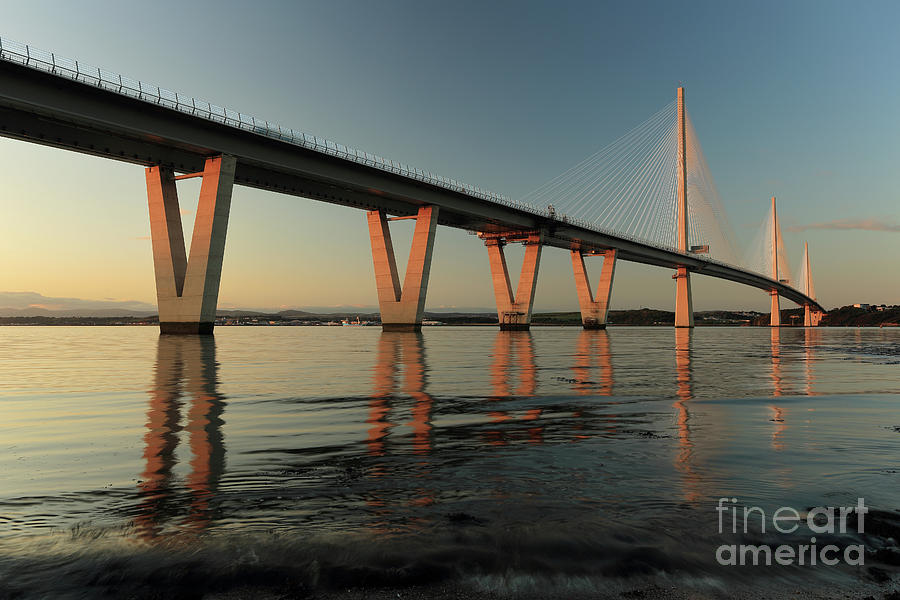 Queensferry Crossing at Sunset by Maria Gaellman