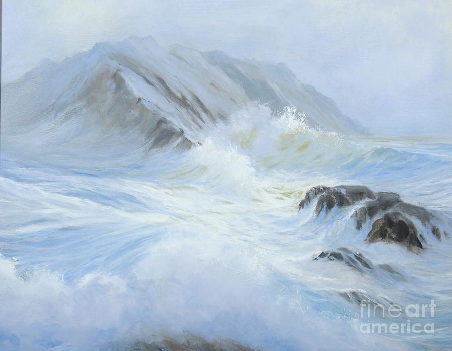 Seascape Painting - Quiet Moment II by Glenn Secrest