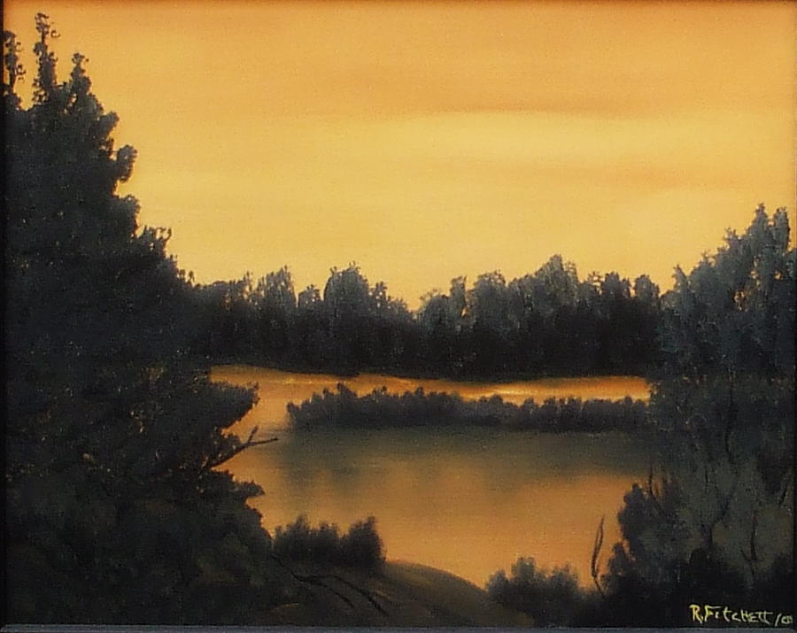 Sunsets Painting - Quiet Sunset by Rebecca  Fitchett