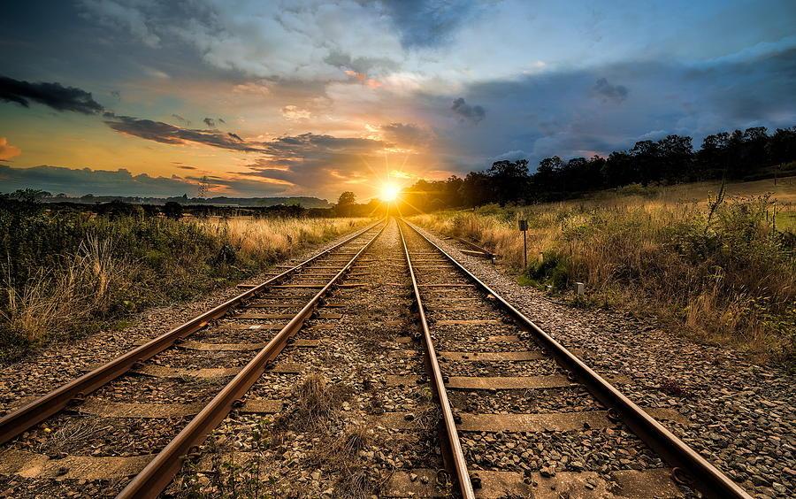 Railroad Digital Art - Railroad by Dorothy Binder