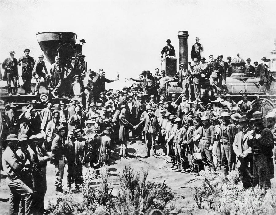 1869 Photograph - Railroading by Granger