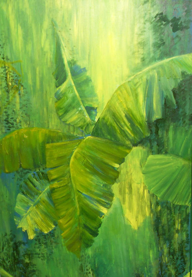 Rain Forest Painting by Carol P Kingsley