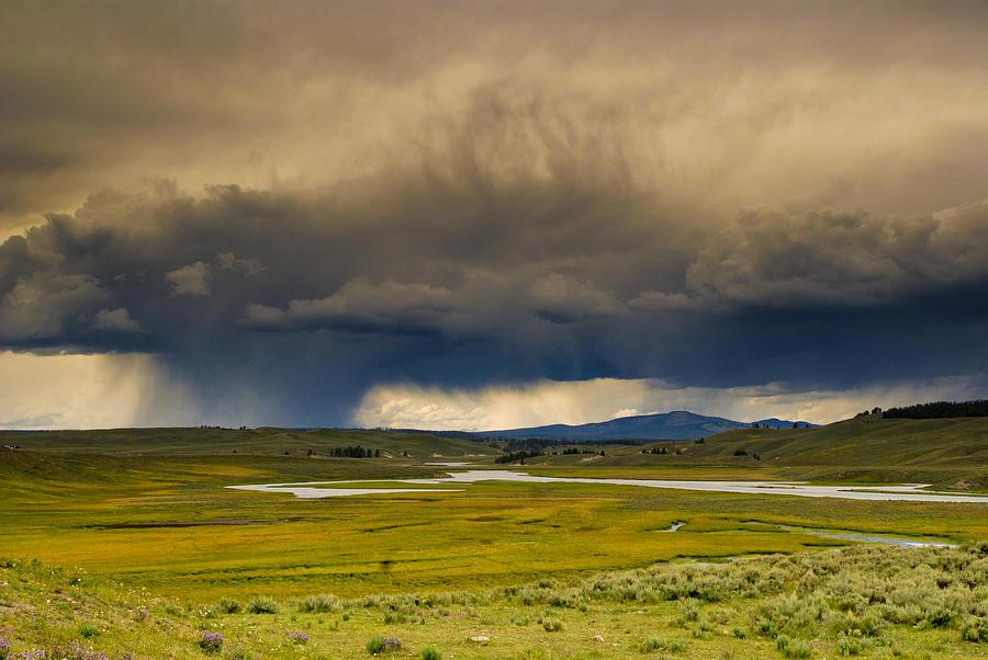 Yellowstone Photograph - Rain Sky by Patrick  Flynn