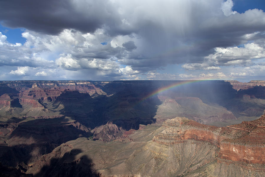 Grand Canyon Photograph - Rain Squall Over The Grand Canyon by Rick Pisio