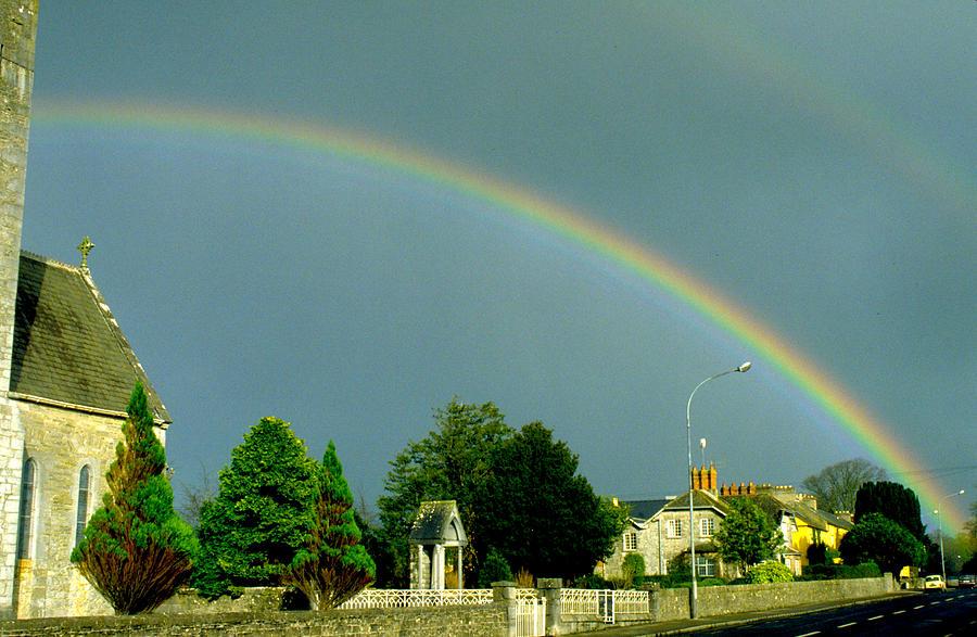 Rainbow In Adare Ireland Photograph