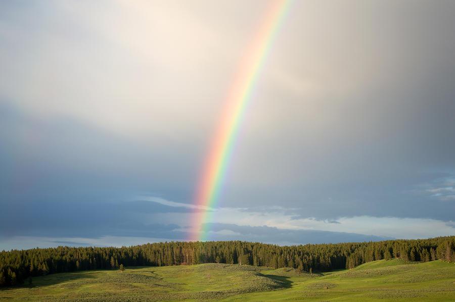 Clouds Photograph - Rainbow by Linda Kerkau