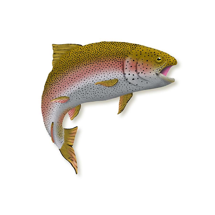 Rainbow Trout Digital Art - Rainbow Trout 1 by Agustin Goba
