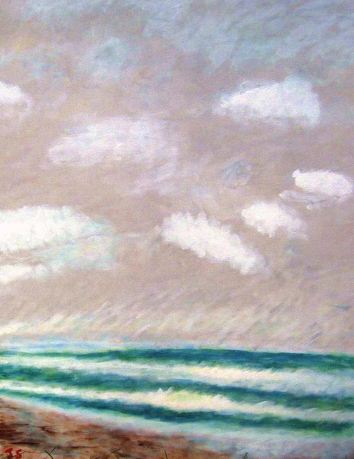 Acrylic Painting Painting - Huge Sky  by John Scates