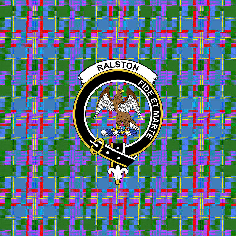 Ralston Tartan Clan Badge Weekender Tote Bag K5 Mixed Media by Chang