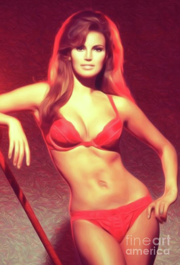 Raquel Welch, Actress Digital Art