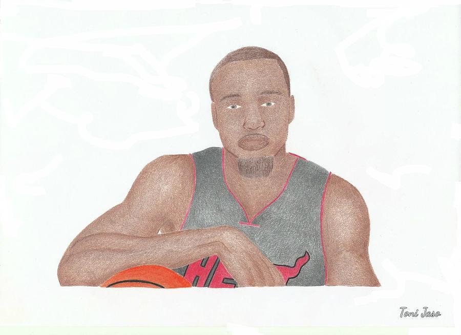 Basketball Drawing - Rashard Lewis  by Toni Jaso